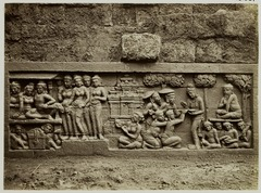 KITLV 28081 - Kassian Céphas - Relief of the hidden base of Borobudur - 1890-1891.tif