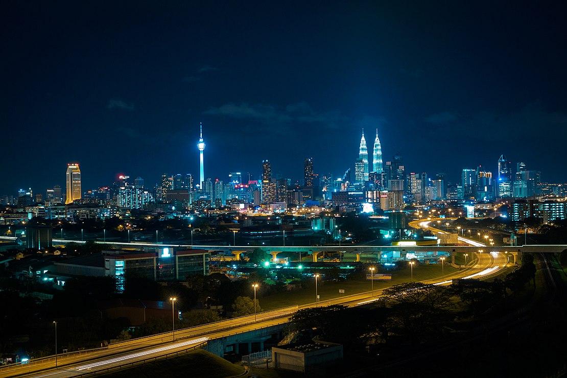 Ночная панорама Куала-Лумпур