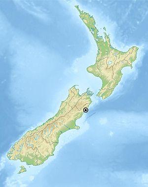 Kaikoura Peninsula - Image: Kaikoura location on New Zealand