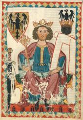 Emperor Heinrich VI.  in the Codex Manesse
