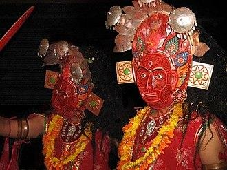 Bhairab Naach - Image: Kali (Bhairab Naach masks)