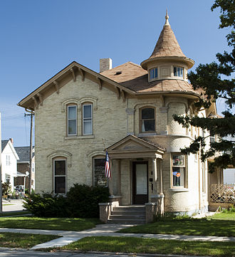 Charles Jonas (Wisconsin politician) - Karel Jonas House in Racine, Wisconsin