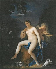 Venus and Amor, after Adriaen van der Werff