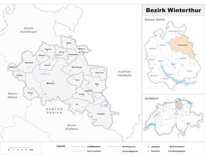 Winterthur District - Image: Karte Bezirk Winterthur 2014