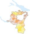 Karte Gemeinden des Kantons St. Gallen farbig 2013.png