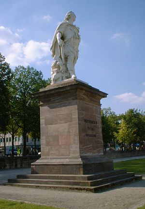Johann August Nahl - Monument to Frederic II in Kassel, later completed by Nahl's son