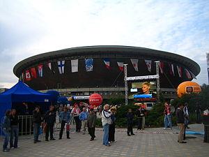 2007 FIVB Volleyball World League - Image: Katowice Spodek podczas finałów Ligi Światowej 2007