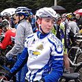 Katrien Thijs at the start of the Azencross 2012.jpg