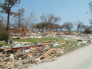 Long Beach, Mississippi -  The impact of Hurricane Katrina on the Long Beach shoreline