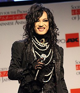 Kaya (迦夜, Japanese visual kei musician) in Anime Expo 2013.jpg