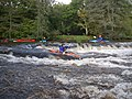 Kayaking Staverton weir in high water - geograph.org.uk - 1612412.jpg