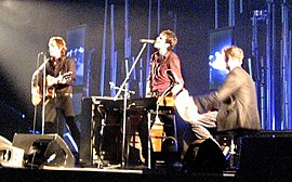 "Keane performing ""Your Eyes Open"" in October 27, 2006 at Alexandra Palace, London. Note Chaplin rarely plays guitar."