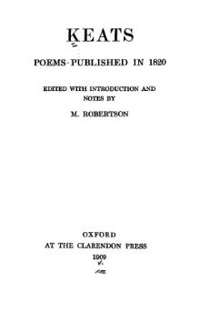 Keats, poems published in 1820 (Robertson, 1909).djvu