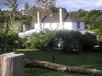 Mission House - Rear view showing gardens