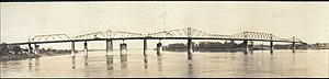 Kentucky & Indiana Terminal Bridge - The original bridge during construction of the replacement bridge