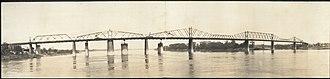 Kentucky & Indiana Terminal Bridge - The original bridge during construction of the replacement bridge
