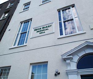 Kevin Barry - Sinn Féin's Dublin HQ at the Kevin Barry Memorial Hall.