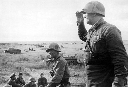 The commander of the 149th Rifle Regiment before the offensive Khalkhin Gol Befor offensive 1939.jpg