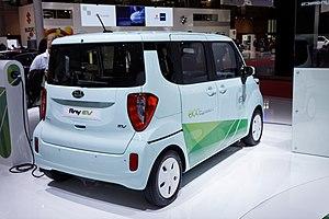 Kia Ray - Image: Kia Ray EV Mondial de l'Automobile de Paris 2012 002
