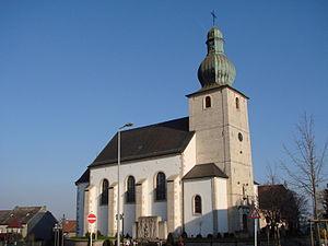 Mondercange - Image: Kierch Monnerech