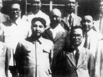 Workers' Party of Korea - Kim Il-sung (left) with Pak Hon-yong in Pyongyang, 1948