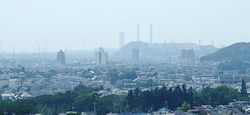 Kimitsu city and Nippon Steel Kimitsu Works