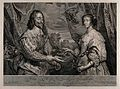 King Charles I and his wife Henrietta Maria of France Wellcome V0048347.jpg