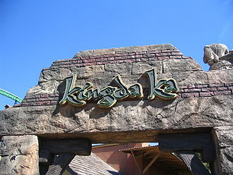 Kingda Ka - Jungle themed Kindga Ka entrance sign