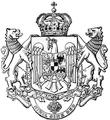 Kingdom of Romania - medium CoA B&W.png