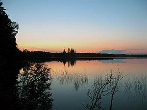 Lakeland Provincial Park and Recreation Area - Kinnaird Lake at Sunset