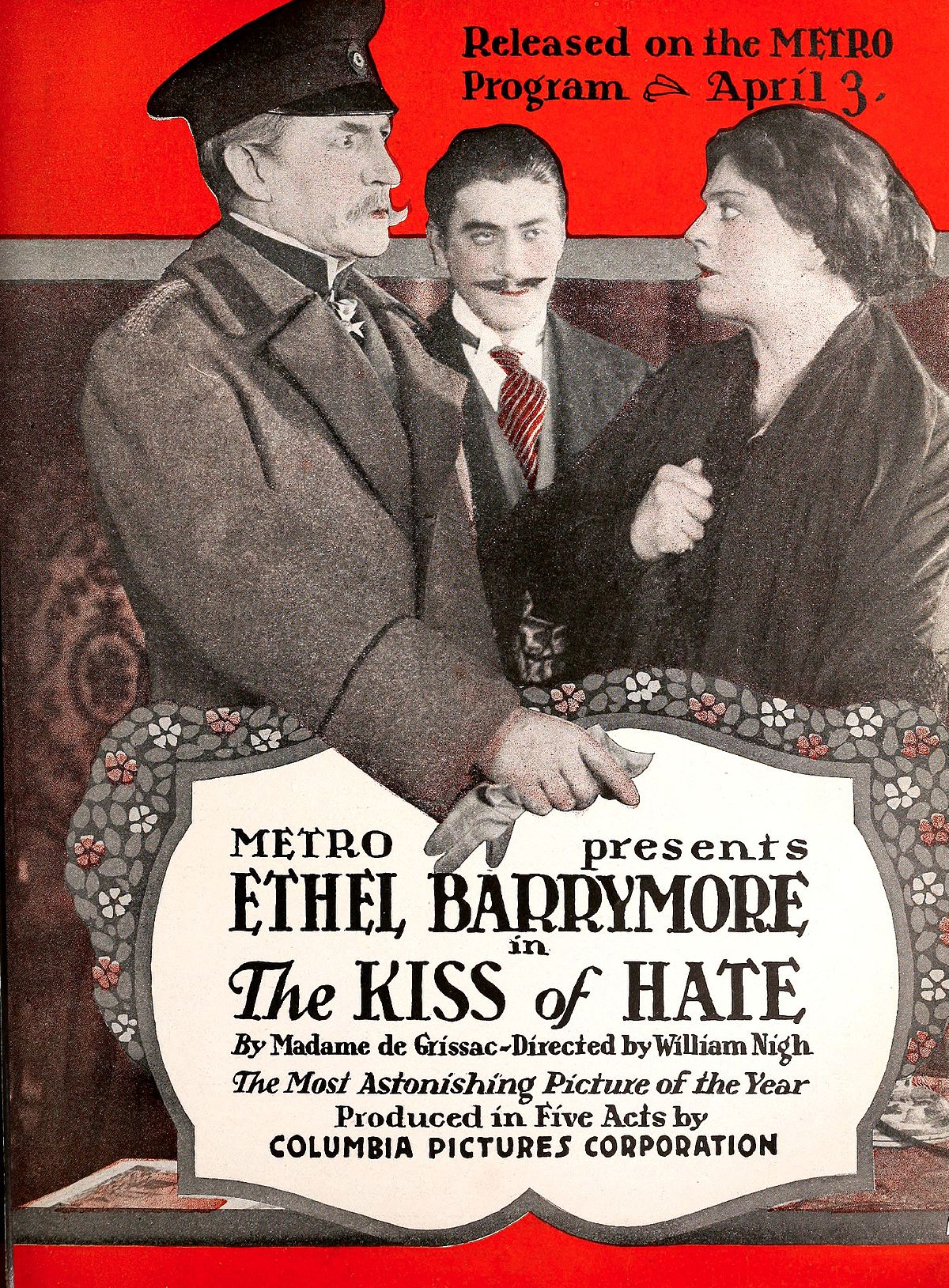 The Kiss (1916 film) The Kiss of Hate Wikipedia