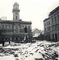 Klapka György tér, a Városháza előtt Klapka György szobra. Fortepan 76815.jpg