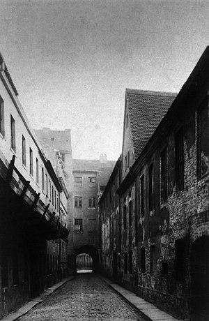 Karl-Liebknecht-Straße - Kleine Burgstraße, 1875