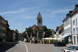 Skyline of Klingnau