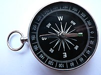 A simple dry magnetic pocket compass
