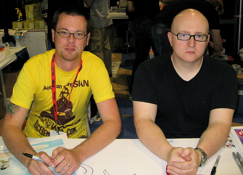 Krahulik Holkins, Comicon 2009.jpg