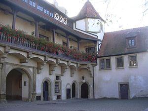 Frederick Augustus, Duke of Württemberg-Neuenstadt - The inner courtyard of Gochsheim Castle which was rebuilt by Frederick Augustus in 1700