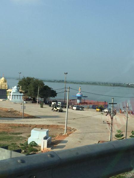 File:Krishna-river-flowing-full-near-BeechuPally jpg