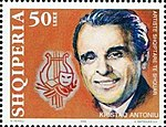 Kristaq Antoniu 2002 stamp of Albania.jpg