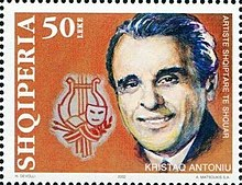 Kristaq Antoniu 2002 stamp of Albania.jpg