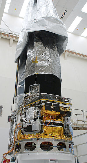 Spitzer Space Telescope - SIRTF in a Kennedy Space Center clean room