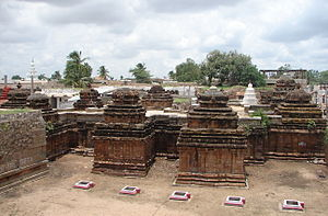 Navalinga Temple - Dravidian style architecture. Top view of Navalinga Temples at Kuknur, Karnataka