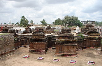 Rashtrakuta dynasty - Dravidian style architecture. Top view of Navalinga Temples at Kuknur, Karnataka