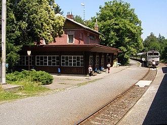 Kunčice pod Ondřejníkem - Image: Kunčice pod Ondřejníkem, nádraží 2