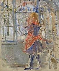 Berthe Morisot, L'Enfant au Tablier Rouge