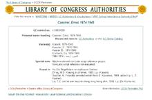 Контрольный номер Библиотеки Конгресса Википедия Контрольный номер Библиотеки Конгресса