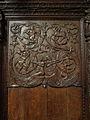 La Guerche-de-Bretagne (35) Basilique Stalle 02 Dorsal 01.JPG