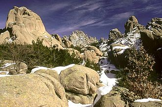 Guadarrama National Park - Granite rocks in the national park.