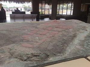 Español: Maqueta de la zona arqueológica de La...