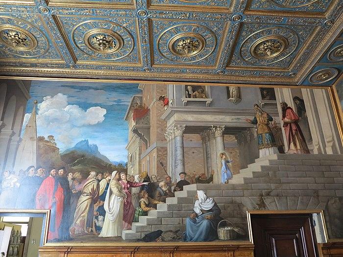 La presentazione della Vergine al Tempio con i confratelli della Scuola Grande della Carità di Tiziano Vecellio, 1534-38 (2)